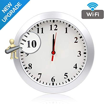 Newwings Upgrade 1080P WiFi Hidden Camera Wall Clock Spy Camera Nanny Cam with Motion Detection, Indoor Covert Security Camera for Home and Office, No Night Vision Covert Wall Clock Camera