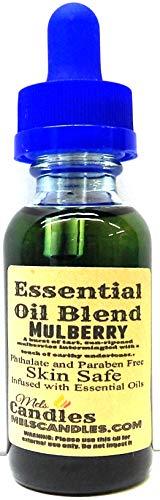 (Mels Candles & More Mulberry 1oz / 29.5ml Blue Glass Bottle of Essential Oil Blend/Premium Grade Skin Safe Fragrance Oil)
