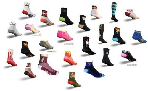 6 Pairs Coolmax Running and Cycling Socks Mix Colors (Lg/XL)