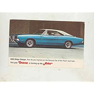 1969 Dodge Charger Factory Postcard