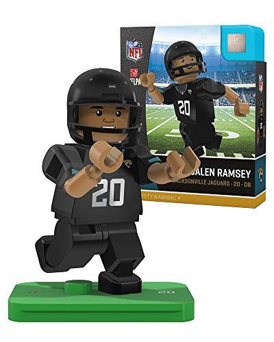 Oyo Sportstoys NFL Jacksonville Jaguars - New Uniforms Sports Fan Bobble Head Toy Figures, tan/Teal, One Size