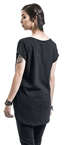 RED by EMP Long Back Shaped Slub Tee Girl-Shirt Schwarz XL