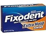 Fixodent Denture Adhesive Powder Extra Hold - 1.6
