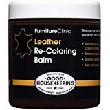 Furniture Clinic Leather Recoloring Balm - Leather Color Restorer for Furniture, Repair Leather Color on Faded & Scratched Leather - 21 Colors of Leather Repair Cream for Leather Upholstery (Black)
