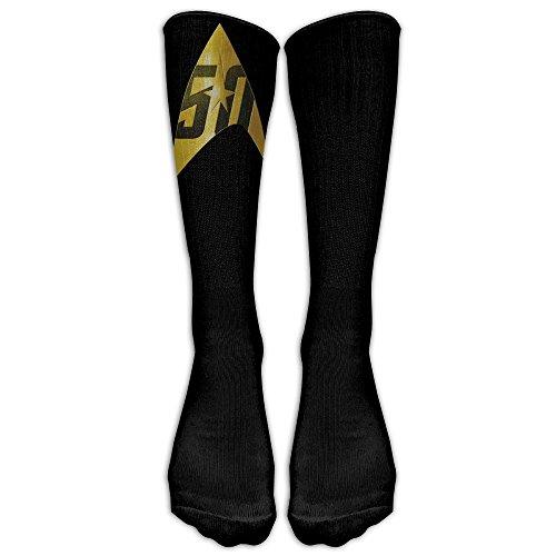 Star Trek 50th Anniversary Delta Shield Unisex Tube Sock Crew Avenged Sevenfold Tube Knee High Sports (Star Trek Uniform 2017)