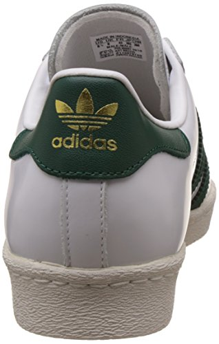 get authentic adidas Mens Superstar 80s Footwear White Collegiate Green Leather Trainers 7.5 US factory outlet sale online sale get to buy buy cheap for nice cheap price discount authentic szfIxmE