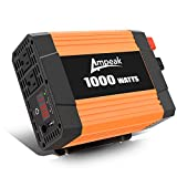 Ampeak 1000W Power Inverter DC 12V to AC 110V with Dual AC Outlets and 2.1A USB Port for Car RV Truck Boat