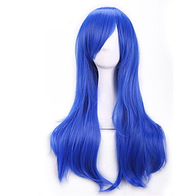 HJLHYL-70 Cm Anime Colorful Cosplay Wigs Young Long Curly Synthetic Hair Wig Blonde Wigs For Halloween Costume , yellow ()