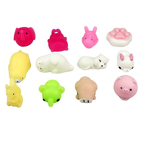 Mocha Gift - Squishy mocha animals release stress gifts to children for Father's day 12pcs package (Random allocation) squeeze slow cute rising stress relief soft stress reliever toys