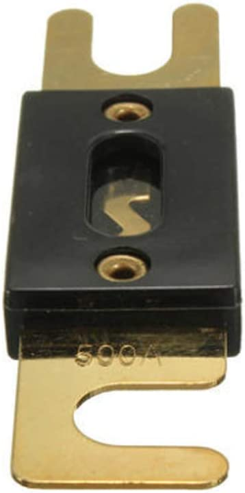 Mintice 5 X 500A Chapado Fusible ANL fusibles Perno Prisionero de Auto 100A AMP Hoja de Oro Audio de autom/óvil automotor Proteger la Seguridad