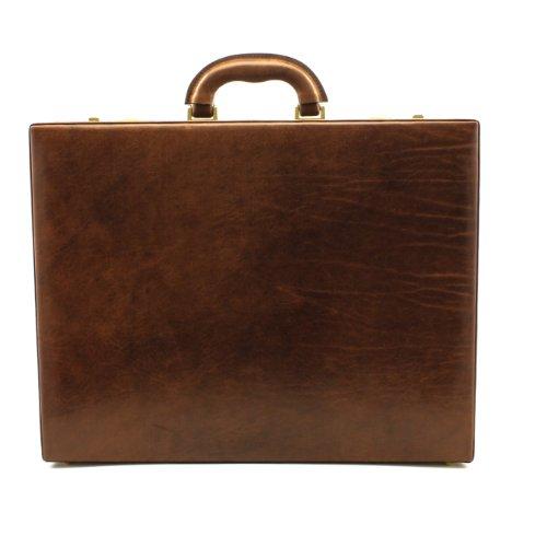 Tony Perotti Women's Italian Bull Amalfi Leather Grande Attache Case with Dual Combination Lock, Laptop Compatible