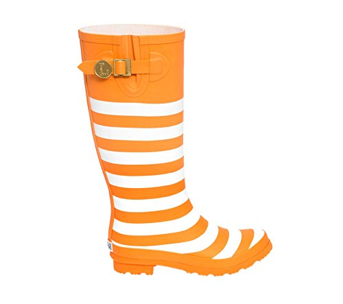 Rainboots Initial White and Bright U Lillybee K Orange xp4Svq