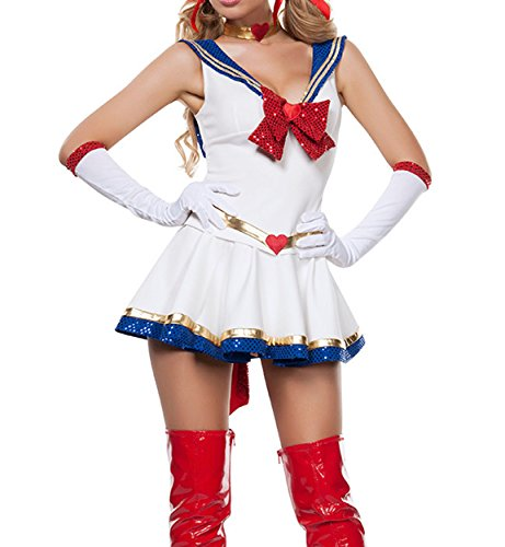 XSHUN Women Anime Costumes Halloween Costumes Cosplay Sailor Moon Dresses
