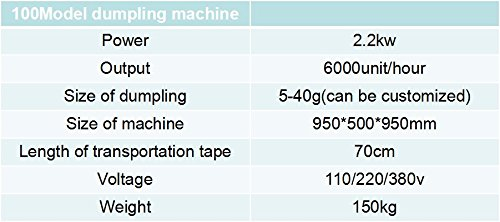 Amazon.com: 6000pcs/hora automática chino Dumpling samosa ...
