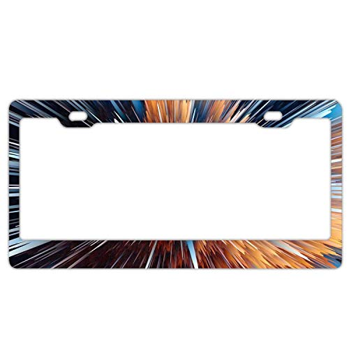 (YEX Abstract Particles Low Poly Explosion5 License Plate Frame Car Licence Plate Covers Auto Tag Holder 6