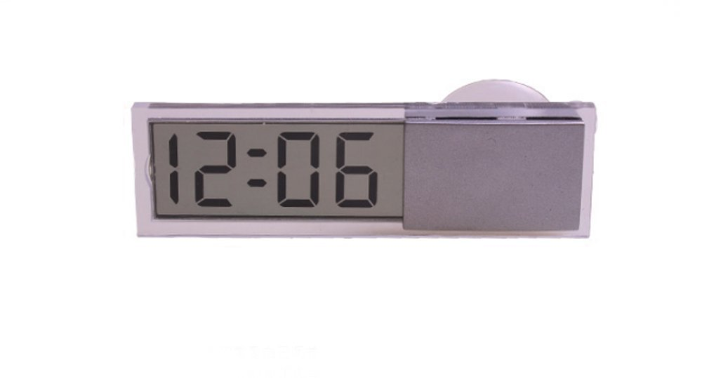 DOGOO LCD Display Digital Electronic Clock, With Sucker LED for All Cars Indoor Outdoor Home