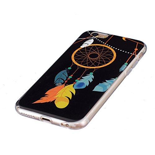 "Coque iPhone 6 / 6S, IJIA Ultra-mince Transparent Noctilucent Campanulacées Capturêve TPU Doux Silicone Bumper Case Cover Shell Skin Housse Etui pour Apple iPhone 6 / 6S 4.7"" + 24K Or Autocollant"