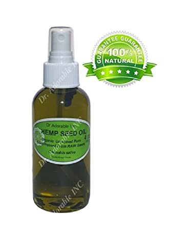 Hemp Oil Benefits for Skin Care Hair Nail Comes with a Sprayer 4 oz