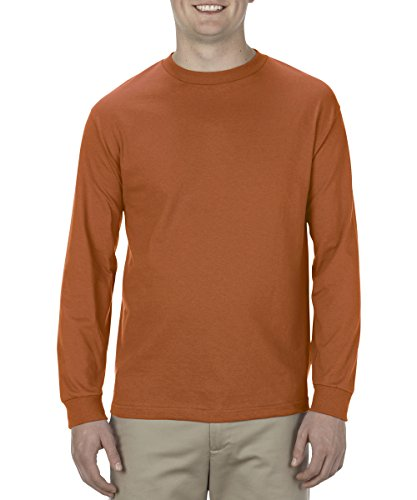 Alstyle Apparel AAA Men's Classic Cotton Long Sleeve T-shirt, Texas Orange, (Texas Orange T-shirt)
