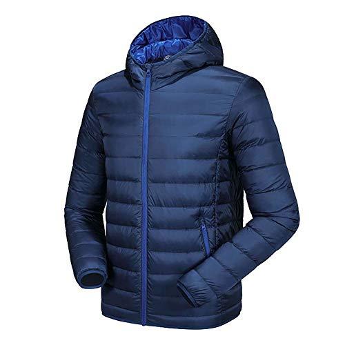 Di Piumino Esterno cappotto Tenere Jacket Comoda Corto Blu nero Uomo a Con Blue Capispalla Xl Leggero grigio Vento Per Down Prova Cappuccio Ultraleggero Da Caldo 2xl n56Iaxqd
