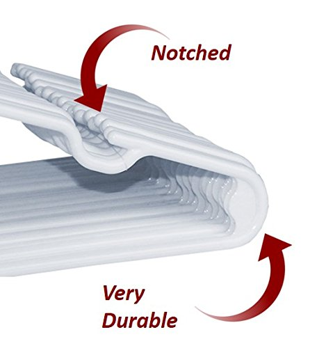 30 Premium Children's Hangers, Very Durable Heavy Duty Tubular Hangers, Made in The USA to Last a Lifetime! Designed to Fit for Children and Babies Value Pack of 30 - White by Hangorize (Image #2)