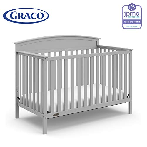 41SNg8sCFvL - Graco Benton 4-in-1 Convertible Crib, Pebble Gray, Solid Pine And Wood Product Construction, Converts To Toddler Bed Or Day Bed (Mattress Not Included)