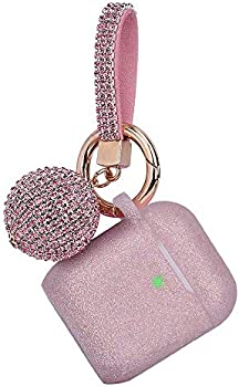 Air Pods Protective Glitter Case with Shiny Disco Ball Keychain