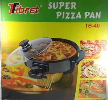 Pizza pan antiadherente sarten electrica Ø 40cm termostato 240º max 1500W: Amazon.es: Hogar
