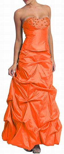 Ballkleid Brautjungfernkleid gerafft Orange Taft Nachtigall Abendkleid Lerche Abschlussballkleid x15qPnaw