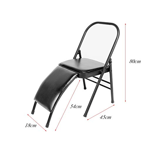 Sports Fitness Yoga Chair Folding Chair Fitness Chair Stool Home Folding Aids Bold Stool Iyengar Folding Chair Outdoor Fishing Chair (Load Weight: 150kg) Exercise Ball Chairs by PHSP (Image #6)