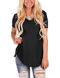 Women Long Sleeve Tunic Tops Plain Casual t Shirts Basic...