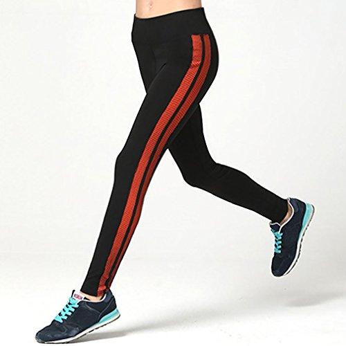 Honghu Mujer Classic Acogedor Stretch Soft Leggings Sport Yoga Jogging Para Pantalon Naranja