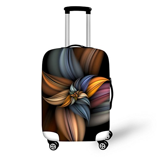Coloranimal Creative 3D Floral Print Thick Suitcase Protective Covers for 26