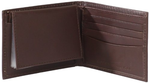 325182fa2 Tommy Hilfiger Men s Leather Hove Passcase Billfold Wallet with Removable  Card Holder