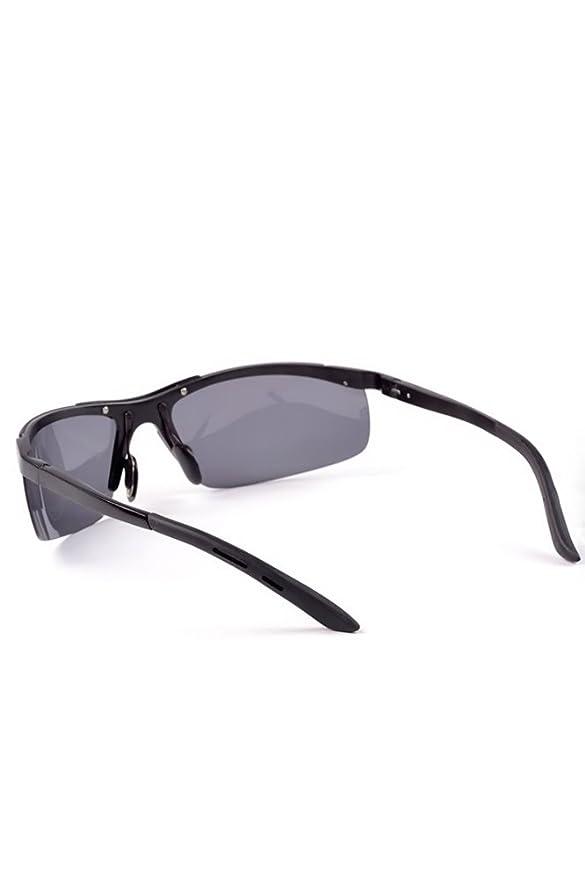 1 Paar Männer Reise im Freien Fahren Angeln Anti-Glare-polarisierte Sonnenbrille Sonnenbrille Schwarz