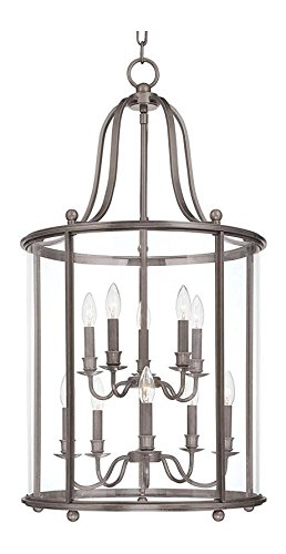 Antique Nickel Ten Light Pendant from The Mansfield Collection