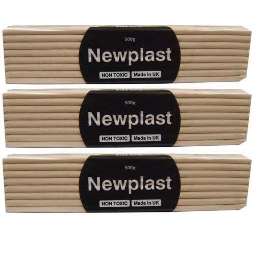 Plasticine Alternative Animators Choice Newplast 500g Flesh Pink 3pk
