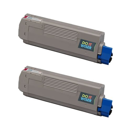 Do it Wiser Compatible Magenta Toner Cartridges For Oki Okidata C6100 C6100N C6100DN C6100DTN C6100HDN C6150 C5550MFP C5550NMFP MC560MFP - 43324418 - Color Yield 5,000 pages (2 Pack)