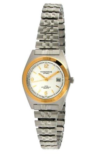 Timetech Steel 3600L Women's Two-Tone Expansion Watch