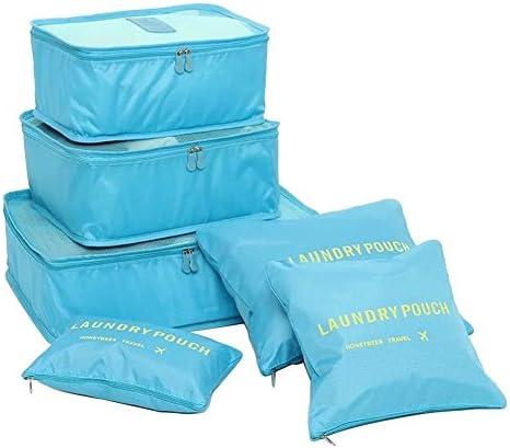 Cubes de Voyage Organiseurs de Bagage 6 Set Diff/érents Tailles Sacs de Compression Organisateurs de Voyage Sacs Rangement de Valise