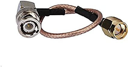 RF Pigtail Cable BNC Male to MMCX Male Right Angle RG316 30CM Ships from USA