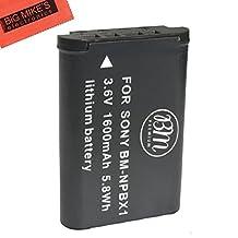 BM Premium NP-BX1 NP-BX1/M8 Battery for Sony CyberShot DSC-HX80, HDR-AS50, DSC-RX1, DSC-RX1R, DSC-RX1R II, DSC-RX100, DSC-RX100M II, DSC-RX100 III, DSC-RX100 IV, DSC-H300, DSC-H400, DSC-HX300, DSC-HX50V, DSC-HX60V, DSC-HX80V, DSC-HX90V, DSC-WX300, DSC-WX350, HDR-AS10, HDR-AS15, HDR-AS30V, HDR-AS100V, HDR-AS100VR, HDR-AS200V, HDR-AS200VR, HDR-CX240, HDR-CX405, HDR-CX440, HDR-PJ275, HDR-PJ440, HDR-MV1, FDR-X1000V, FDR-X1000VR Digital Camera