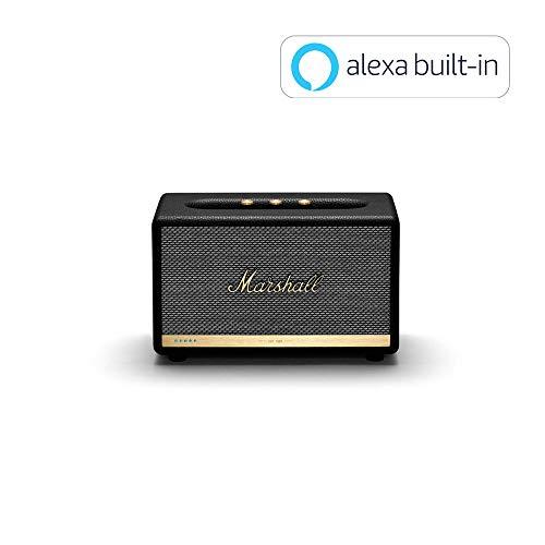Marshall Acton II Wireless Wi-Fi Multi-Room Smart Speaker with Amazon Alexa Built-in, Black - New (Action Acton)