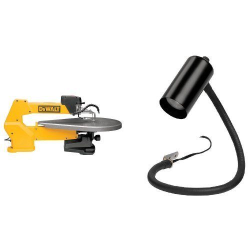 - DEWALT DW788 1.3 Amp 20-Inch Variable-Speed Scroll Saw with Scroll Saw Work Light