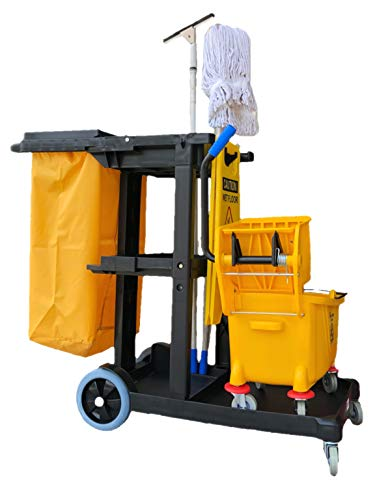 Simpli-Magic 79191 Janitorial Cart, Commercial, Yellow/Grey