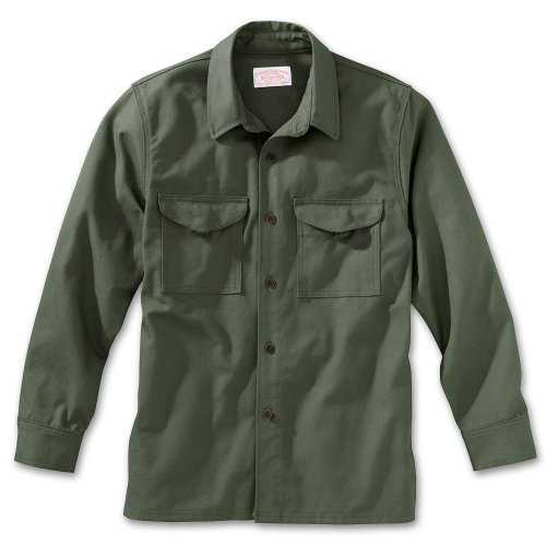 - Filson 10430 Antique Tin Cloth Jac-Shirt Extra Long (Medium, Otter Green)