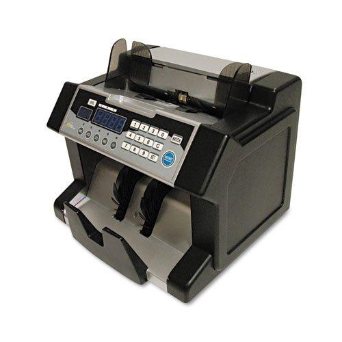 Elect Bill Ctr w/Counterfeit Detection, 1200 Bills/Min.,10 1/5x91/2x81/2,BK/SR