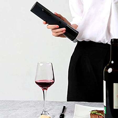 Huohou Abridor automático de Botellas de Vino Tinto Destapadores Sacacorchos eléctrico Cortador de Aluminio Herramienta de Corcho para Kits de hogar Inteligente