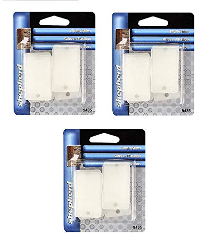 Shepherd Hardware 9435 Wedge-It White Plastic Shims, Sold as 3 Pack, 18 Count Total (Shims And Wedges)