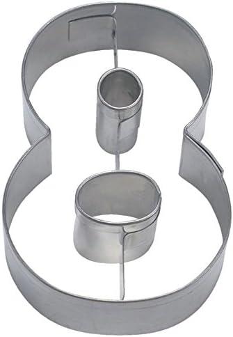 Staedter Molde para Galletas Plateado Acero Inoxidable Plata 6,5/cm 30 x 30 x 30 cm